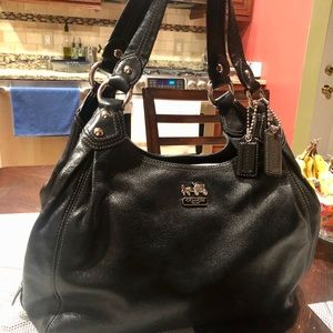 Coach large black hobo bag